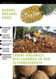 global organic news ivoire organics - BIO TROPIC GmbH
