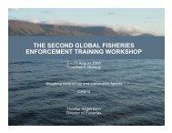the second global fisheries enforcement training workshop