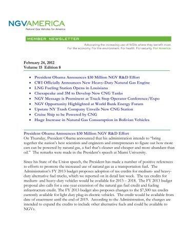 February 24, 2012 Volume 15 Edition 8 • President Obama ...