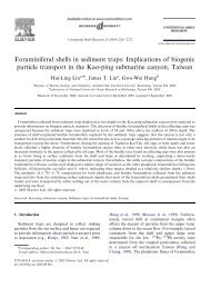 Foraminiferal shells in sediment traps: Implications of biogenic ...