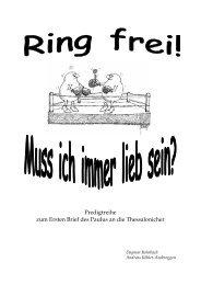Ring frei - Muss ich immer lieb sein?