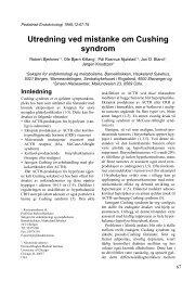 Utredning ved mistanke om Cushing syndrom - Pediatrisk ...