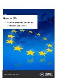 Norge og EØS: - Nei til EU