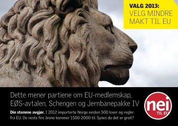 Partifolder 2013 skjerm.pdf - Nei til EU