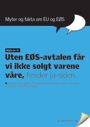 Myten om at vi ikke får solgt varene våre - Nei til EU