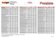 Preisliste (Brutto) - webDrink.de Getränkelieferservice