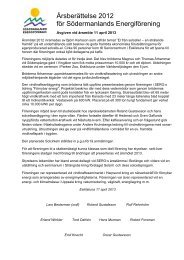 Årsberättelse 2012 för Södermanlands Energiförening - Sero