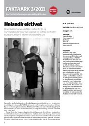 faktaark 3-2011 - Helsedirektivet.pdf - Nei til EU