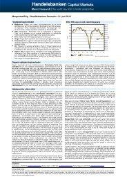 Morgenmelding – Handelsbanken Danmark 21. juni 2012
