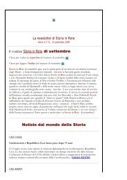 Leggi la newsletter di Storia in Rete n° 8 2009