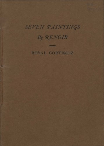 Seven paintings by Renoir / Royal Cortissoz.