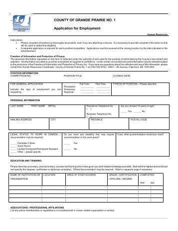 Application Form - Ro-Dar Contracting Ltd. Grande Cache Alberta