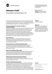 Faktaark 10-2004 Aktørene i FUSP. Disse jobber med ... - Nei til EU