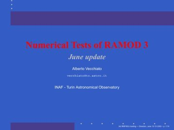 Numerical Tests of RAMOD 3
