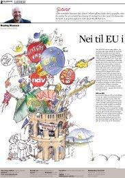 Nei til EU i stortingsvalg