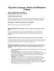Figurative Language: Similes and Metaphors in ... - Students.ou.edu