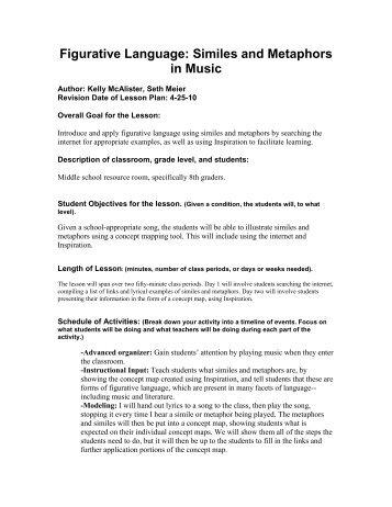 Rewriting Similes and Metaphors Worksheet for 4th - 8th Grade ...