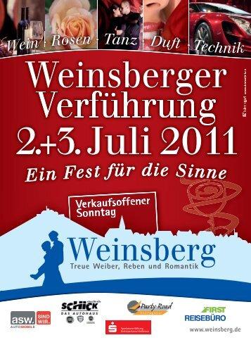 am Sonntag, 3. Juli 2011, 11.30 - 18.00 Uhr - Stadt Weinsberg