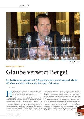 Glaube versetzt Berge! - Koch und Bergfeld Besteckmanufaktur GmbH