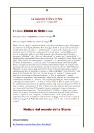 Leggi la newsletter di Storia in Rete n° 5 2009