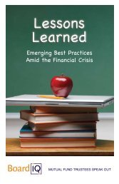 Lessons Learned: Emerging Best Practices Amid the Financial Crisis
