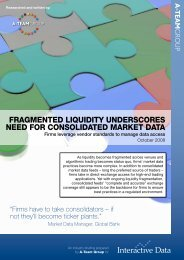 Fragmented Liquidity Underscores Need for Consolidated Market Data