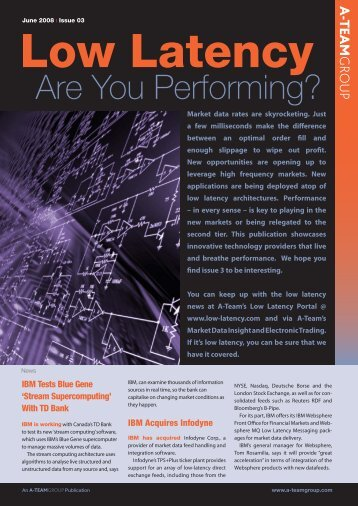 Low Latency – Are You Performing? - Interactive Data Corporation