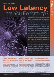 Low-Latency: Are You Performing - Interactive Data Corporation