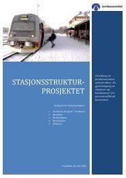 delrapport for banestrekningene - Jernbaneverket