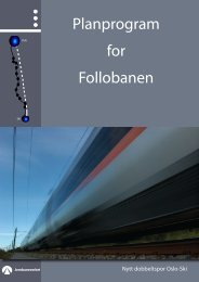 Planprogram Follobanen - Jernbaneverket