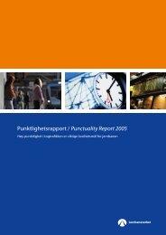 Punktlighetsrapport / Punctuality Report 2005 - Jernbaneverket