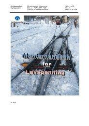 STY 4678 Montørhåndbok Lavspenning 2008 ... - Jernbaneverket