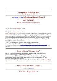 Leggi la newsletter di Storia in Rete speciale n 2 2011