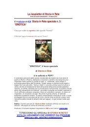 Leggi la newsletter di Storia in Rete speciale n 3 2011