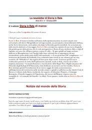 Leggi la newsletter di Storia in Rete n° 3 2010