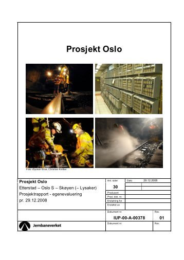 Evalueringsrapport Prosjekt Oslo - Jernbaneverket