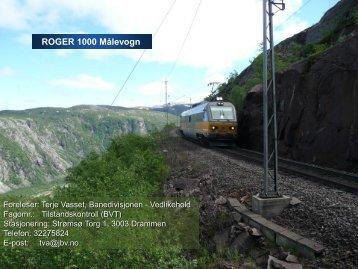 Vedlikehold infrastruktur_MÃ¥levogn.pdf - Jernbaneverket
