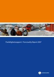 Punktlighetsrapport / Punctuality Report 2007 - Jernbaneverket