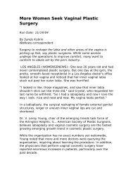 More Women Seek Vaginal Plastic Surgery - Urogyn.org