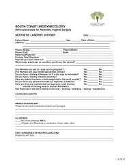 H&P Registration Forms Kit - Laser Services - Urogyn.org