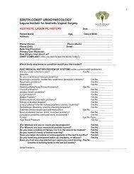 Patient Registration Forms - Urogyn.org