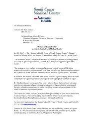 SCMC Press Release 04/09/2007 - Urogyn.org