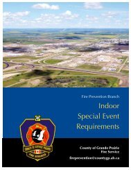 Indoor Special Event Requirements - County of Grande Prairie