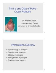 The Ins and Outs of Pelvic Organ Prolapse - Urology Rounds