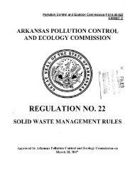 REGULATION NO. 22 - Arkansas Department of Environmental Quality