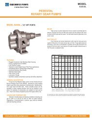pedestal rotary gear pumps model - Oberdorfer Pumps