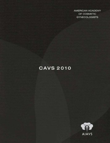 CAVS Final Program 2010 - Urogyn.org