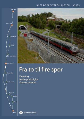Fra to til fire spor - Jernbaneverket