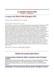 Leggi la newsletter di Storia in Rete n° 5 2011