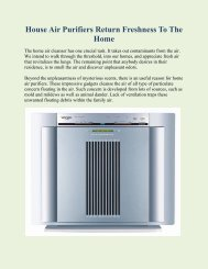 House Air Purifiers Return Freshness To The Home